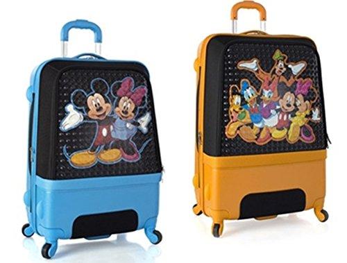 Equipaje, Maletas y Bolsas de Viaje - Premium Designer Maleta Rígida Set 2 Piezas - Heys Disney Clubhouse Trolley con 4 Ruedas Media + Trolley con 4 Ruedas Grande