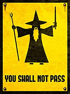 You Shall Not Pass Gandalf The Lord of the Rings LOTR Movie Art 16x12 Poster Print