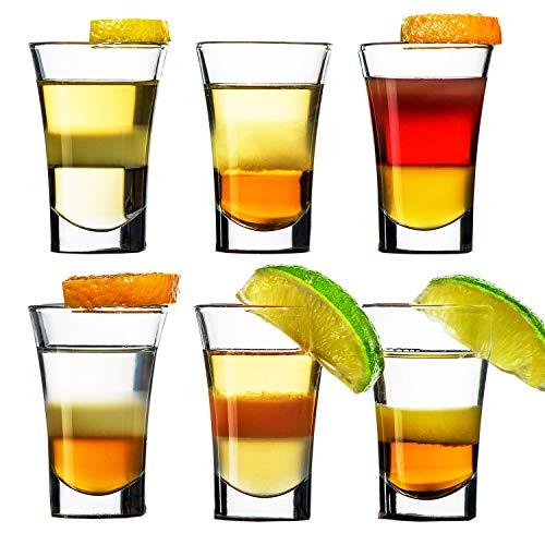 SZMMG 6er Schnapsgläser Shotgläser Set Glas 4cl, Pinnchen Gläser für Whisky, Tequila, Wodka und Liköre,Spühlmaschinenfest