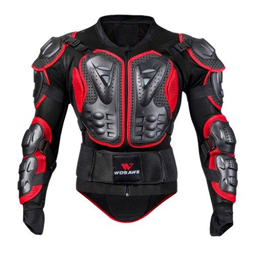 SDENSHI chaqueta de la camisa de la motocicleta Ciclismo espalda hombro completo cuerpo protector Gear - rojo, XXXL
