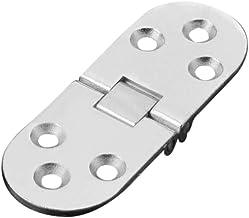 2 peças de aço inoxidável dobradiça oculta prata para gaveta de armário de armário de armário de janela