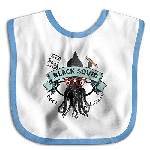 Black Squid Beer House Funny Baby Bibs Burp Infant Drool Toddler Bibs
