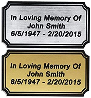 engraved plate for bench