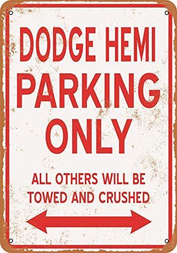 BRILLON Dodge Hemi Parking Only Metallschild im Vintage-Look, 20,3 x 30,5 cm
