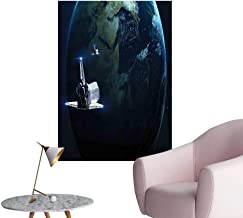 Vinyl Artwork Return to Earth Science Fiction World Backdrop Space Craft Travel Image Navy Blue Easy to Peel Easy to Stick,12