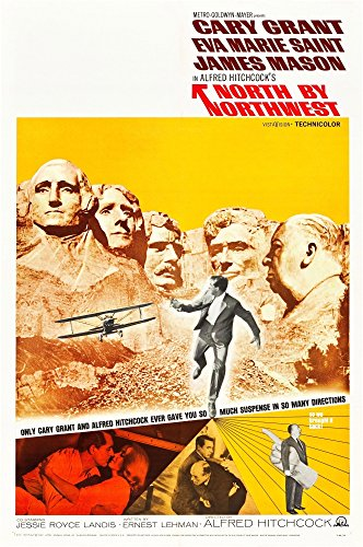 Posterazzi North Print by Northwest Cary Grant Eva Marie Saint Alfred Hitchcock 1959 Movie Poster Masterprint