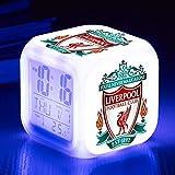Xiaoqing Premier Liga de fútbol reloj despertador LED digital colorido cuadrado reloj despertador creativo pequeño reloj despertador