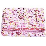 Bestlymood 7 piezas de algodón de 50 cm x 50 cm, diseño floral, para costura de tela y patchwork y tejidos hechos a mano (rojo)