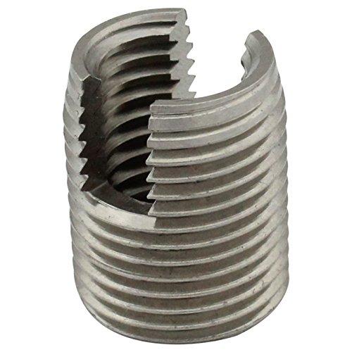 Gewindeeinsätze (selbstschneidend) mit Schneidschlitz - M6 - (5 Stück) - aus rostfreiem Edelstahl A1 (VA) - NIRO - SC9058 | SC-Normteile®