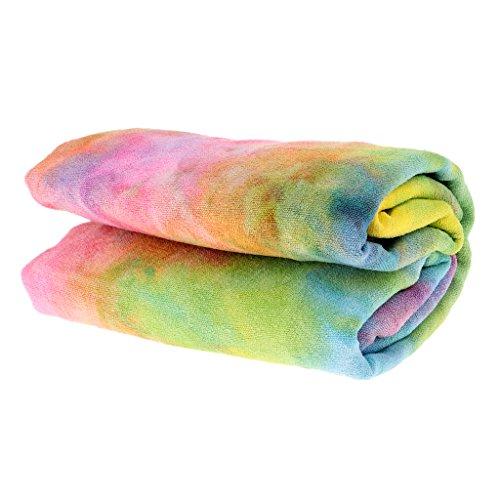 MagiDeal Premium Mikrofaser Anti-Rutsch Yogatuch Yogamatte-Handtuch 183x63cm Yoga Handtuch für Übungen Pilates Fitness Sport Strand mit Aufbewahrungstasche - Zitrone