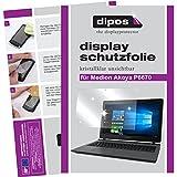 dipos I 2X Schutzfolie klar kompatibel mit Medion Akoya P6670 Folie Bildschirmschutzfolie