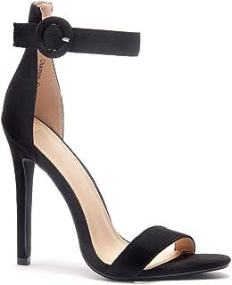 Charming Women's Open Toe Ankle Strap Stiletto Heel Dress Sandals Elegant Wedding Party Shoes