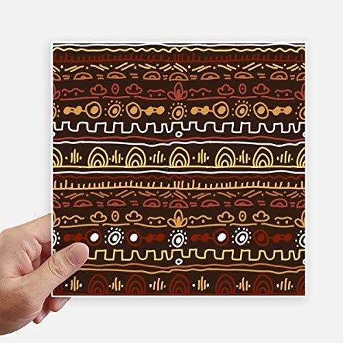 DIYthinker Afrique Primitive Style autochtone Tribal Autocollant carré de 20 cm Mur Valise pour Ordinateur Portable Motobike Decal 4Pcs 20cm x 20cm Multicolor