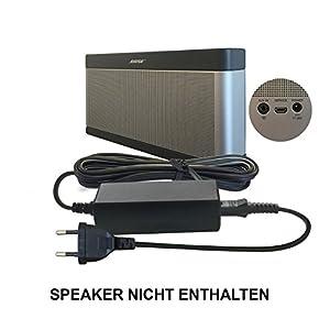 ABC products Bose de repuesto cargador de batería, cargador, Adaptador, conexión 17 V - 20 V, (17 - 20 V) para sonido I, II, III, 1, 2, 3 altavoz Bluetooth/Speaker etc