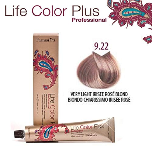 FarmaVita Life Color Plus Haarfarbe 100ml 9.22 Lichtblond Violett Rose