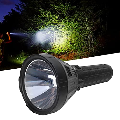 ハンドヘルドサーチライト、屋外用登山用キャンプ用超高輝度懐中電灯高出力大バッテリー容量