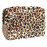 Borsa da bagno Trama di leopardo Beauty case per uomini donne bambini borsetta da viaggio idrorepellente Borsa da toilette per valigia bagagli a mano 18.5x7.5x13cm
