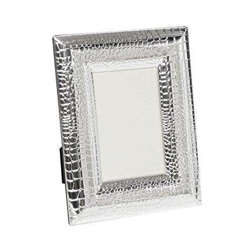 Brillibrum Design - Cornice portafoto placcata in argento, motivo serpente, 10 x 15 cm