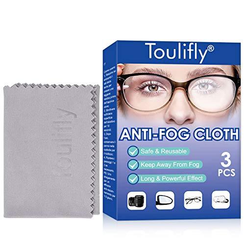 Antibeschlagtuch,Brillentuch, Antibeschlag-Tuch, Brillen-Anti-Beschlag-Tuch, Glas beschlagfrei,3 Stück für Brillen, Tablets, Kameraobjektive, Bildschirme, Tastaturen und empfindliche Oberflächen