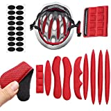 MDCEO Almohadillas para Casco de Bicicleta, 9 Pcs Almohadillas de Espuma universales para Casco de Bicicleta, Motocicleta(Rojo)