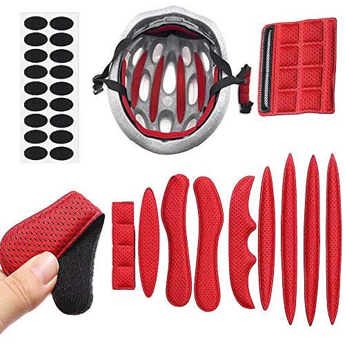 MDCEO Almohadillas para Casco de Bicicleta, 9 Pcs Almohadillas de Espuma universales...