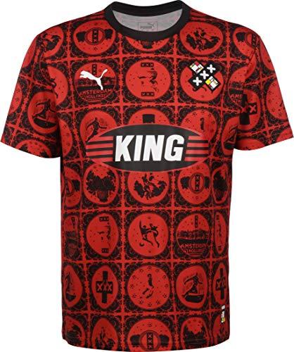 PUMA Amsterdam Fußballtrikot rot/schwarz, M