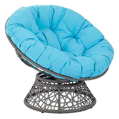 LYHY Nest Hängesessel Sitzkissen, Indoor Outdoor Stuhlkissen Verdicken Runder Teppich Stuhl Schaukelkissen Für Schaukelstuhl Pad-130x130x6cm Himmelblau