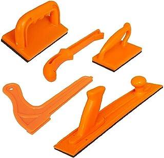 NiceCore Push-blockpinne säkerhet hög synlighet med handtag för träbearbetning bordscirkelsåg router tabell jointer 5 st h...