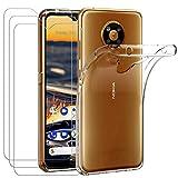 ivoler Hülle für Nokia 5.3 + [3 Stück] Panzerglas,