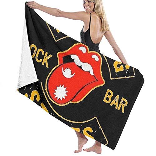 Custom made Rolling Rock Bar Stone Toallas de baño grandes y suaves toallas absorbentes de baño para mujeres y hombres se aplican a la playa deportes de viaje