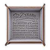 BELLA BUSTA-Traditional Wool 7 Years Anniversary-Forever to go-Engraved Wool Tray with Breakdown Dates-Storage & Organization Jewelry Trays (Wool)