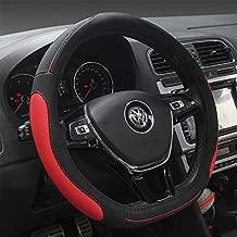 HCMAX D Type Steering Wheel Cover - Flat Bottom Car Steering Wheel Protector Men Women D Cut Shaped Diameter 38cm(15