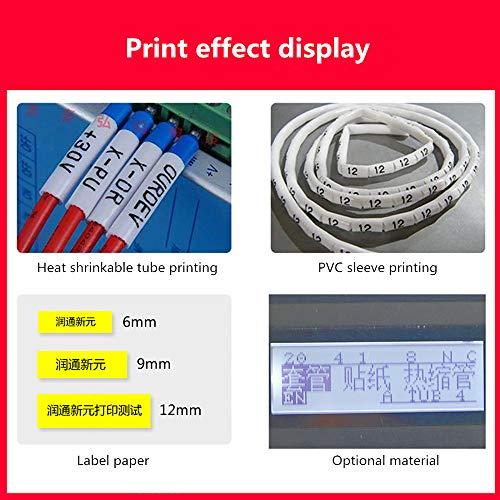 Isunking Impresora de Marca de línea ID de Cable La Impresora + se ...