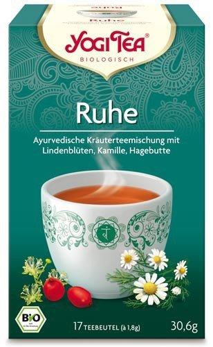 Yogi Tee, Ruhe-Tee Ayurvedische Teemischung, Biotee, sanfte, milde Mischung, 17 Teebeutel, 30,6g