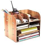 Vicoki Tisch Organizer, Briefablage Büro Schreibtisch Organizer Briefkorb Office Desktop Organizer...