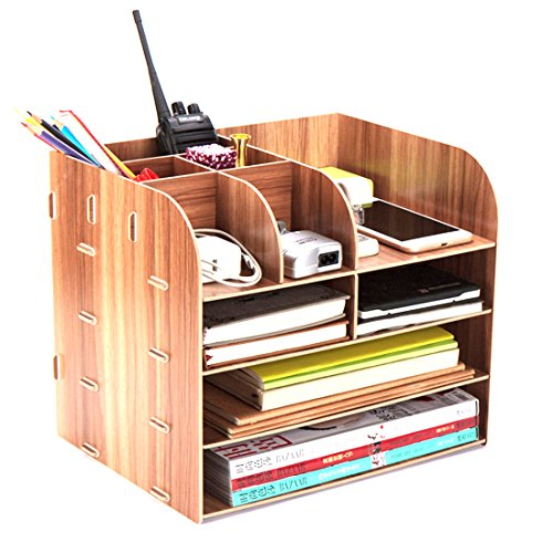 Vicoki Tisch Organizer, Briefablage Büro Schreibtisch Organizer Briefkorb Office Desktop Organizer Caddy, 32×25×27.5cm