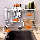 S-Senrohy Cocina Estante para Platos Cubiertos Copa del Plato sumidero Almacenamiento en Rack Rack Cocina vajilla Cocina Palillos Almacenamiento SN