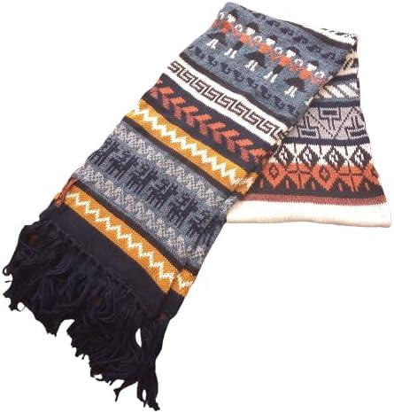 Alpakaandmore 100% Alpaca Wool Scarf Double Knit 17.86 x 9.84 Inches
