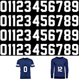 44 Pieces 8 Inch Tall Iron on Numbers Sports T-Shirt Heat Transfer Numbers 0 to 9 Jersey White Numbers for Team Uniform Sports Football Basketball Baseball T-Shirt