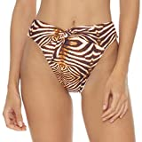 Luli Fama Safari Dreams - High Leg Tie Front Bottom Brown