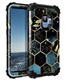 Rancase for Galaxy S9 Case,Three Layer Heavy Duty Shockproof Protection Hard Plastic Bumper +Soft Silicone Rubber Protective Case for Samsung Galaxy S9,Black/Gold