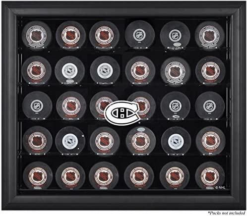 Montreal Canadiens Framed 30 Hockey discount Puck Display Topics on TV Logo Case