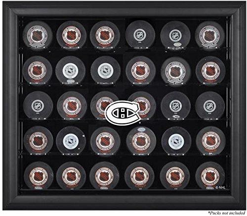 Montreal Canadiens Framed 30 Hockey Puck Logo Display Case