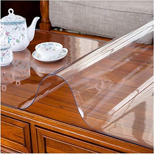 Mantel Transparente PVC Rectángulo Protector de Mesa Vidrio Blando Impermeable A Prueba de Aceite por Comedor Escritorio Muebles de Madera (Color : 1.5mm, Size : 140X200CM)