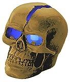 Lunartec Totenkopf: Schädel-Leuchte Crackhead 1 Blaue LED (Totenkopf Lampe)
