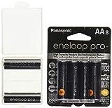 10 Panasonic eneloop pro AA High Capacity Ni-MH 2550mAh (Min. 2450mAh) Pre-Charged Rechargeable Batteries + Free Battery Holder