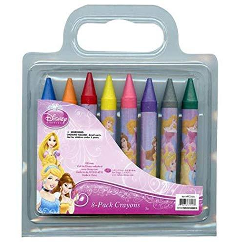 Disney Princess 8 Pack of Jumbo Crayons for Art School & More