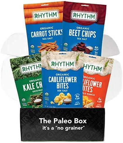 Rhythm Superfoods Cauliflower Bites Kale Chips Beet Chips Carrot Sticks Variety Box Organic product image