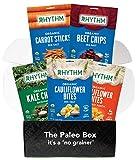 Rhythm Superfoods Cauliflower Bites, Kale Chips, Beet Chips, Carrot Sticks (Variety Box) Organic, Gluten-Free, Vegan, Paleo Friendly Snacks
