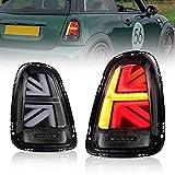 Conjunto Completo de Luces Traseras LED para Mini Cooper S R55 R56 One Hatch/Hatchback[2007-2015]Faros Traseros, Luz Trasera Instalación con Intermitente Dinámico, con E-mark